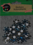 Crafters Square Snowflake Stickers - 90cm package - Blue