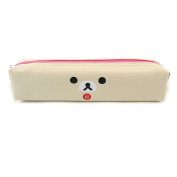 San-X Rilakkuma Korilakkuma Kiiroitori Face Pencil Case Multi Purpose Cosmetic Pouch Coin Bag