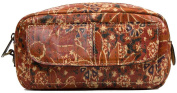 Patricia Nash Women's Remini Leather Top Zip Cosmetic Case Revival Multi