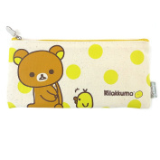 San-X Rilakkuma Canvas School Pencil Case Multi-Purpose Cosmetic Pouch Coin Bag