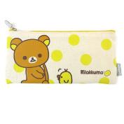 San-X Rilakkuma Canvas School Pencil Case Multi-Purpose Cosmetic Pouch Coin Bag