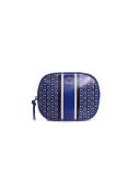 Tory Burch Gemini Link Cosmetic Case in Jewel Blue Gemini Link Stripe