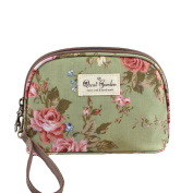 Micom Korean Flowers Printing Waterproof Travel Cosmetic Bags Pouch with Wristlet