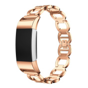 AutumnFall Genuine Stainless Steel Bracelet Smart Watch Band Strap for Fitbit Charge 2