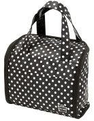 Caboodles Curved Tote Black with White Dots