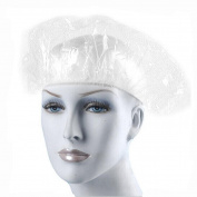 100PCS Clear Disposable Plastic Extra Large Elastic Bath Cap Waterproof Shower Retaining Cap Unisex Dustproof Hat for Adult Hotel Bath Shower