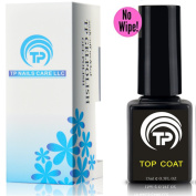 No Wipe Gel Top Coat . Premium shining soak off TP Non-Wipe Gel Top Coat 15 ml per bottle.