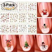 Christmas Halloween 3D Nail Art Stickers Snowflakes Cute Snowmen Nail Decals by sela