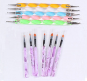 Finger Angel Nail Art Design Painting Dotting Pen Nail Polish Brush Set Maincure Tools