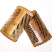 Hair and Beard Comb - Perfect for Balms and Oils - Anti-Static, No Snag Wooden Brush,Green Sandalwood Pocket Comb For Beards & Moustaches