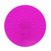 Happy Hours - Portable Mini Round Silicone Makeup Brushes Cleaning / Washing Mat and New Eco Friendly Scrubbers Pad with Suction Cup Function for Homeuse and Travel