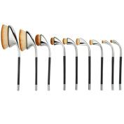 Coshine 9pcs Pro Golf Oval Makeup Brush Set