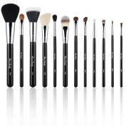 Miusco Beauty Essential Makeup Brush Set with Travel Holder, 12 Pieces