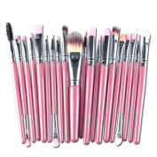 Fullkang 20 pcs Pro Make-up Toiletry Kit Wool Makeup Brush Set Tools