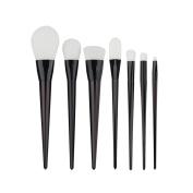 AMarkUp 7Pcs Professional Eyeshadow Makeup Brushes Set Bold Metal Collection Kabuki Blush Eyeliner Eyebrow Brush Kits
