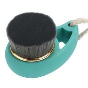 Blue Soft Comfortale Fibre Brush Cleansing Brush Plastic Handle Wash Face Comestic Beauty Tool