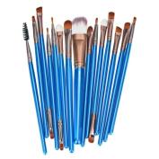 Brush Set, Misaky 15pcs Makeup Brush Set tools Make-up Wool Make Toiletry Kit