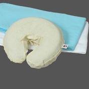 110cm White Flannel Massage Table Set