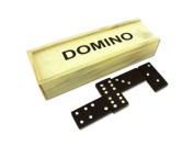 Domino Set in Wooden Box Toys Christmas Gift