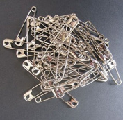 Sliver Safety Pins, 46mm (Size 3), 100-Count