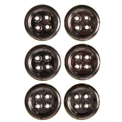 ABS Metal Plated 4 Hole Button with Eylets Effect 50 Line Gunmetal