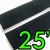 1.3cm Self Adhesive Hook & Loop Sticky Back Tape Fabric Fastener - 7.6m