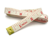 BUMOS Soft Tape Measure 60 Inch/150 cm Soft Cloth for Sewing Tailor Cloth Ruler