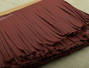 Burgundy Leather Fringe