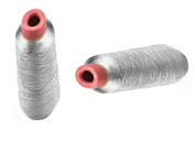 P2P@zita 2PCS Silver Metallic Machine Embroidery Threads ,Polyester Sewing Thread Spools for Embroidery- 3000 yards