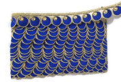 Kundan Lace Hand Embroidered Golden Ribbon Indian Trim Stone Work Lace