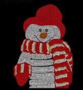Christmas Snowman Rhinestone Iron on Transfer