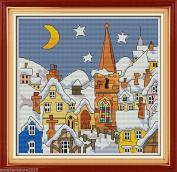 Snow World Embroidery Kit Precise Printed Needlework Cross stitch
