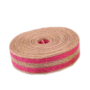 Colourful Jute Burlap Rolls 2.5cm Width 10m Long for Craft Rustic Wedding Belt Strap Craft