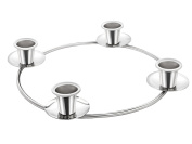 Christmas Silver Advent Ring Wreath. For Advent and X-mas candle candles Décor Decorations