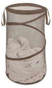 Whitmor 38cm Collapsible Pop-Up Laundry Hamper, Chocolate