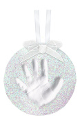 Pearhead Babyprints DIY Hand/Footprint Glitter Ornament, Silver