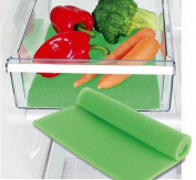 DE-Kitchen Refrigerator mat Fridge Shelf Liner Keeping Vegetables & Fruits Fresh Non-Adhesive Non-Slip Antibacterial Mildew Moisture Mat Absorption Anti-fouling Pads