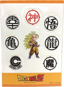 Sticker - Dragon Ball Z - SS3 Goku & Symbols Set Toys Anime Licenced ge55521