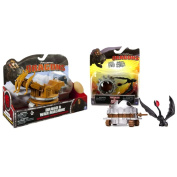 DreamWorks Dragons - How to Train Your Dragon 2 Battle Pack Value Bundle Drago Action Figure and War Machine Dragon and Trap Action Figure Set Toothless and Dragon Catcher