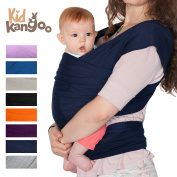 BEST Elastic wrap sling to carry your baby - Baby carrier made of cotton and lycra - Baby Sling Carrier for men and women in five colours (NAVY BLUE) PREMIUM