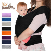 BEST Elastic wrap sling to carry your baby - Baby carrier made of cotton and lycra - Baby Sling Carrier for men and women in five colours (BLACK) PREMIUM