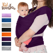 BEST Elastic wrap sling to carry your baby - Baby carrier made of cotton and lycra - Baby Sling Carrier for men and women in five colours (PURPLE) PREMIUM
