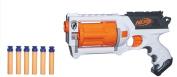 Nerf N-Strike Maverick Rev-6 Quick-Firing Blaster with Rotating Barrel Toys, White