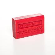 French Soap, Traditional Savon de Marseille - Wild Strawberry 125g