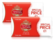 6x Cussons Imperial Leather Original Ivory Classic & Rich Creamy Soap Bar 100g