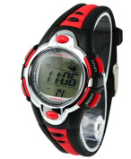 Kids Watches Flash Lights 50m Waterproof Chronograph Digital Sports Watch - Red Colour
