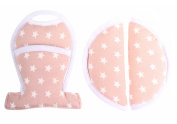 Seat belt covers - pads for Maxi-Cosi or stroller - Pink white stars ♥♥♥