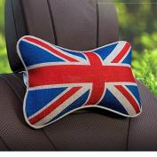 System-S 1x Car Head Neck Pillow Cushion Headrest United Kingdom Style