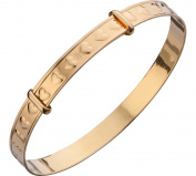 9ct Rolled Gold Children's Heart Expander Bangle