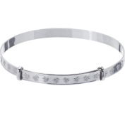 Sterling Silver Expander Teddy Bangle